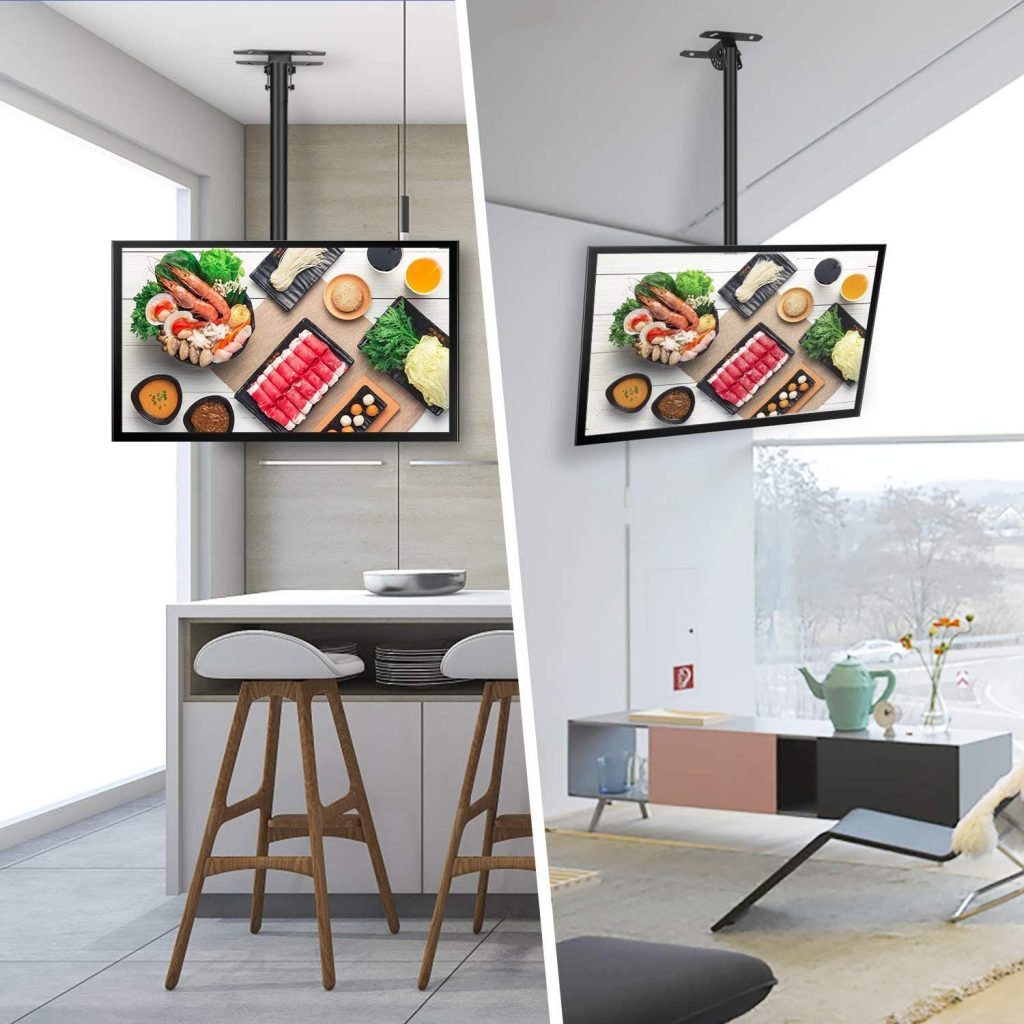 soporte de techo SIMBR con altura ajustable (VESA) soporte tv techo motorizado como instalar soporte para tv , tablaroca precio, cómo instalar soporte tv, soporte para televisor