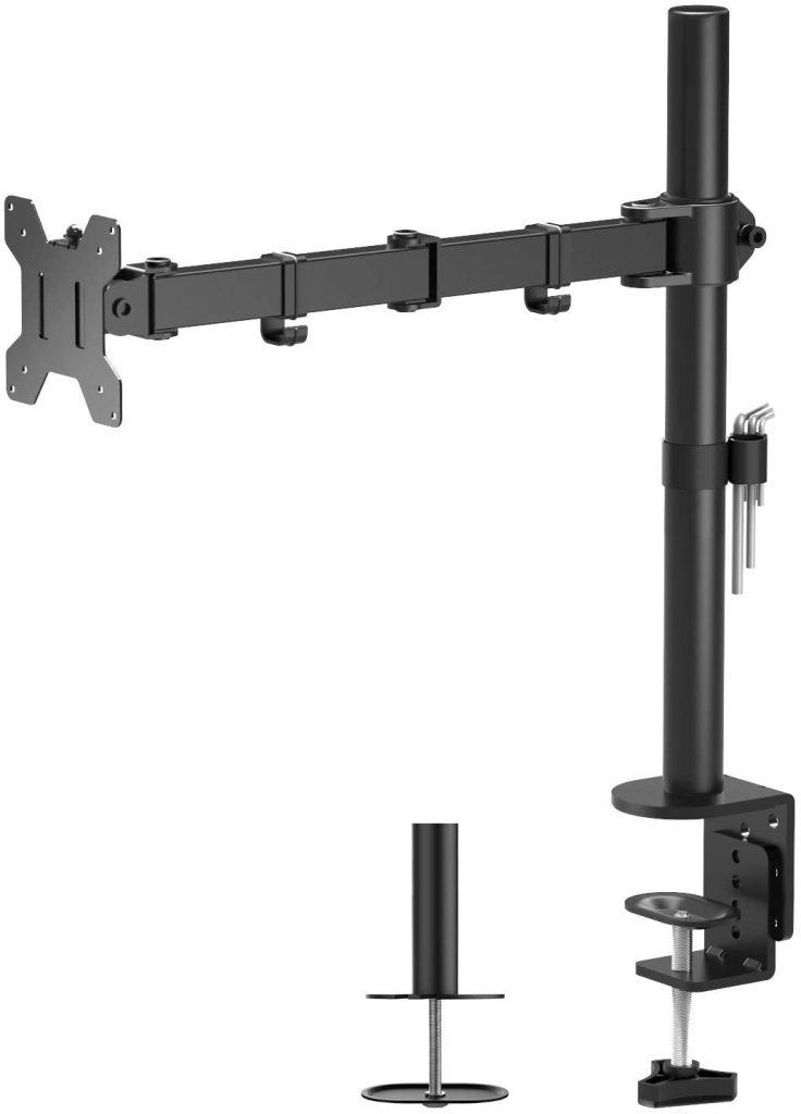 Soporte de monitor y tv BONTEC, base ajustable de brazo de escritorio