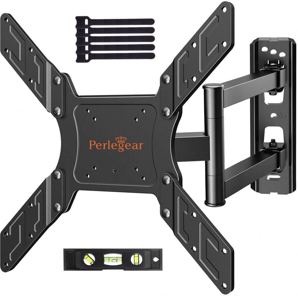 Soporte de tv de pared PerleGear con brazo articulado para pantallas de hasta 55 pulgadas. maximo de 45 kg