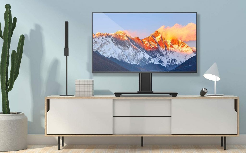 Soporte de tv de pie Perlegear, soporte universal hasta 55 pulgadas para mesa max vesa 400x400mm imagen