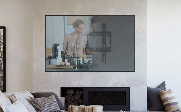 soporte de pared para tv by amazon, soporte fijo de 26 a 55 pulgadas EONO, soporte television pared leroy merlin