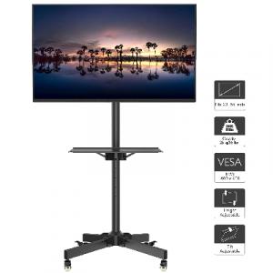 soporte television con barra y ruedas